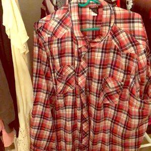 Torrid plaid button down blouse Torrid size 4